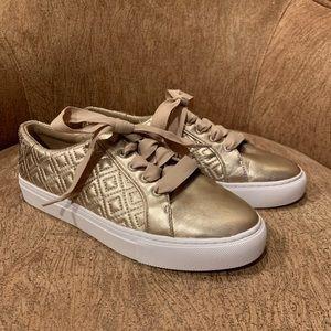 Tory Burch Gold Marion Metallic Sneaker